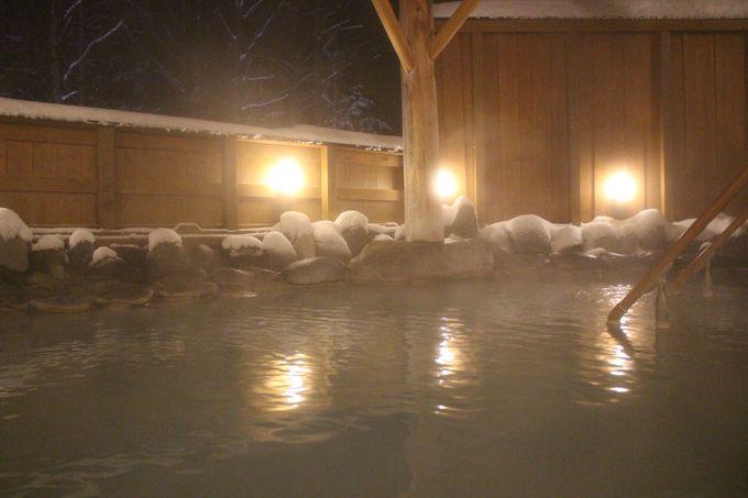 「湯巡り手形」で雪見温泉三昧!「スノーシュー」で雪上観察会も!
