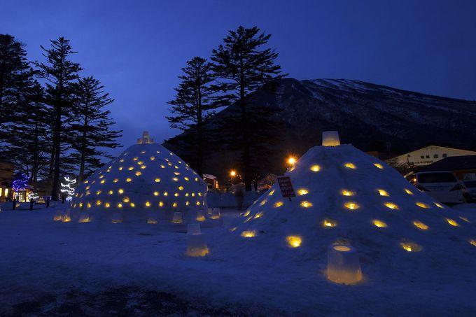 中禅寺湖周辺では参加型で楽しめる「中禅寺カマクラまつり」