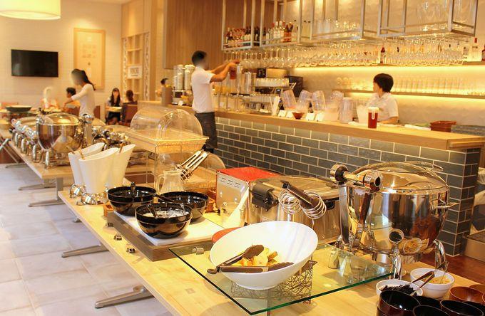朝食は、低農薬高原野菜を使ったホテルシェフのビュッフェ!