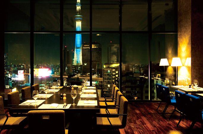 浅草の夜景を一望できる絶景レストラン
