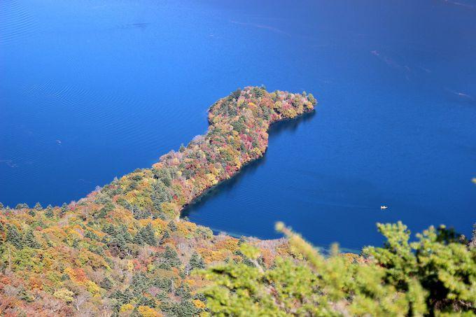 中禅寺湖を上から眺める!八丁出島の美しさ。