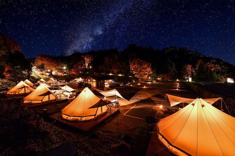 グランピングで贅沢時間!栃木・ツインリンクもてぎ「森と星空のキャンプヴィレッジ」