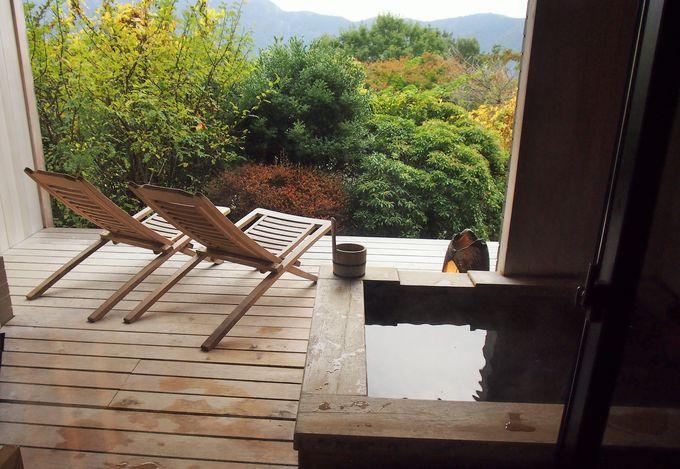 四季折々に変化を見せる外輪山の風景が美しい「強羅温泉 強羅花」