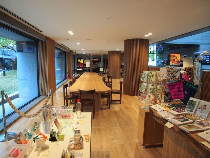 ミュージアムショップやカフェ(cafe de Moku)