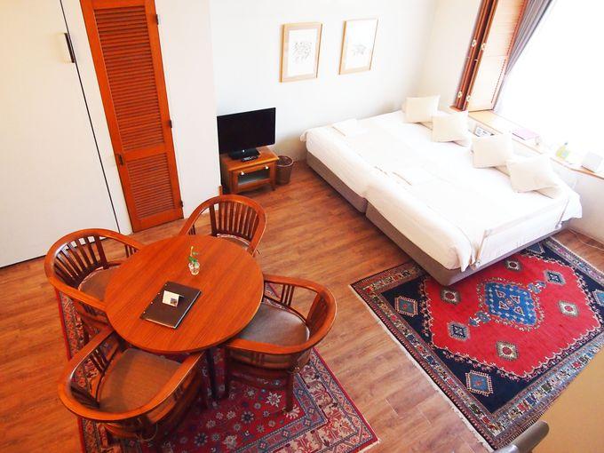 まるで海外の別荘のような雰囲気のリゾートホテル