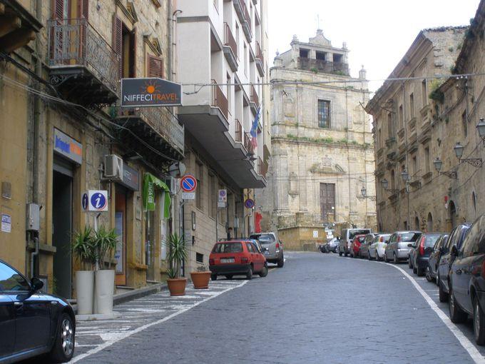 イタリアで最も高い県庁所在地のエンナの町