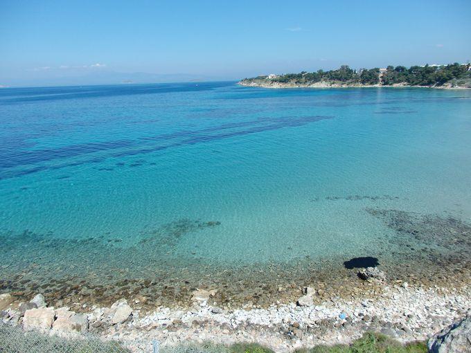 アポロン神殿のある遺跡から楽しむエーゲ海の絶景