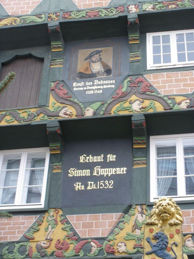 町で一番美しい木組み「ホッペナーハウス」
