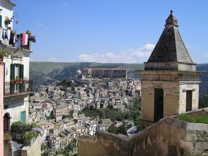 高台にある上の町「ラグーザ・スーペリオーレ」からの素晴らしい眺め