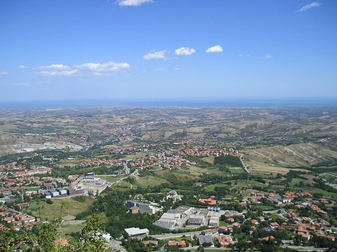 アドリア海まで見渡す、とっておきの風景