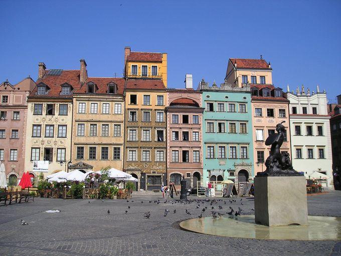 1.旧市街市場広場(ワルシャワ)