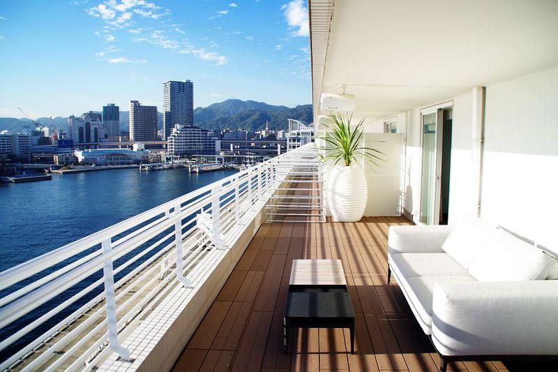 全客室バルコニー付き「神戸メリケンパークオリエンタルホテル」は海を感じるホテル
