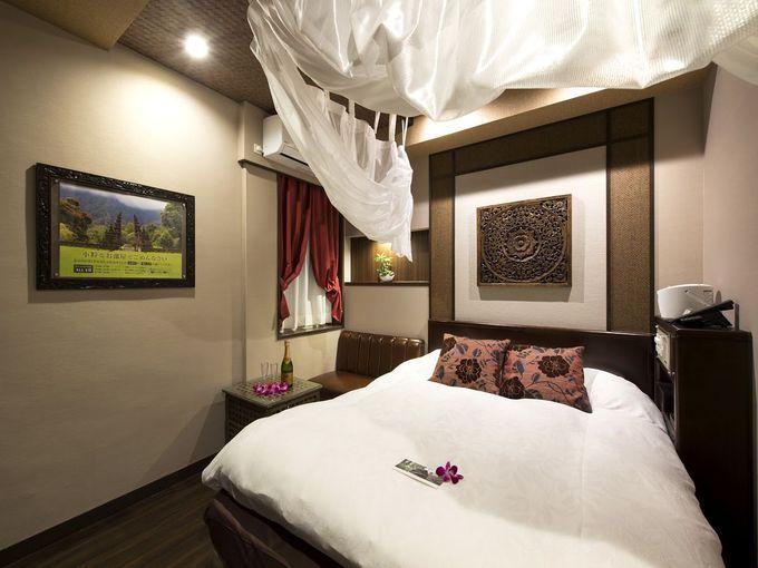 リゾート感溢れる贅沢設備の客室