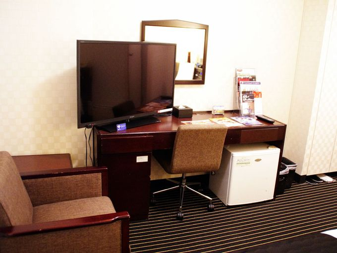 大画面テレビが嬉しい客室
