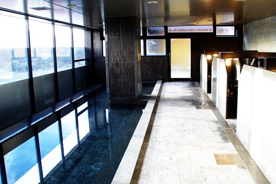 富士山を望める展望大浴場