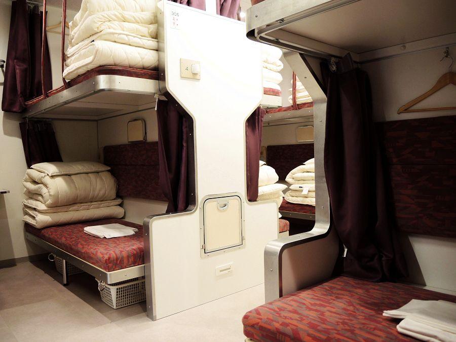 往年の寝台車がコンセプト 東京「トレインホステル北斗星」