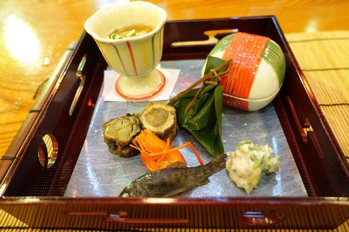 貴船の川床料理旅館「ひろ文」の懐石料理ランチ