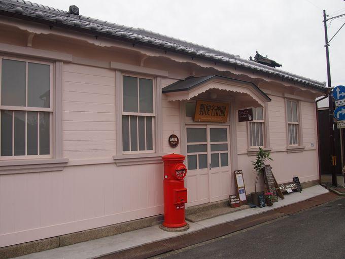 名柄の集落で一休み。郵便名柄館は2015年、郵便局の旧舎をリニューアルしたカフェレストラン!