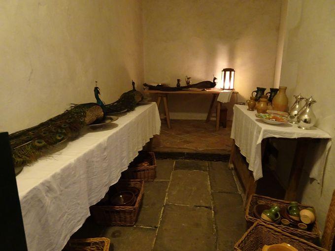 宮殿では珍しい見ごたえあるキッチンエリア