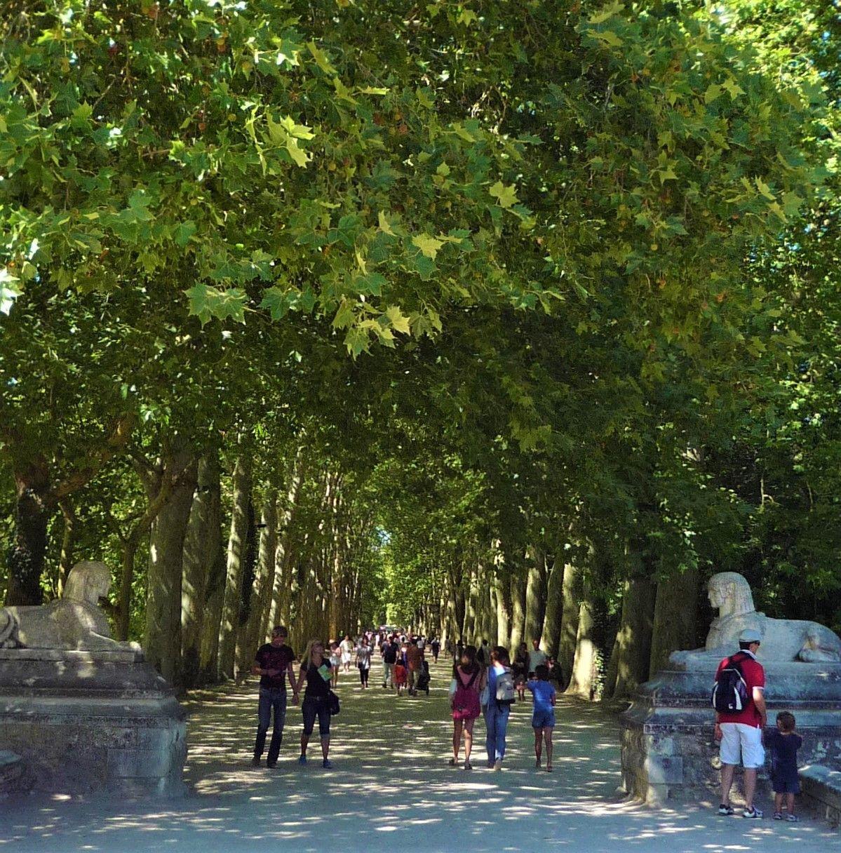 城周辺の庭園は散歩に最適