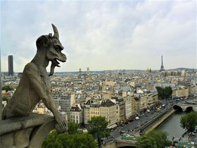 パリの景色を展望できる世界遺産「ノートルダム大聖堂」