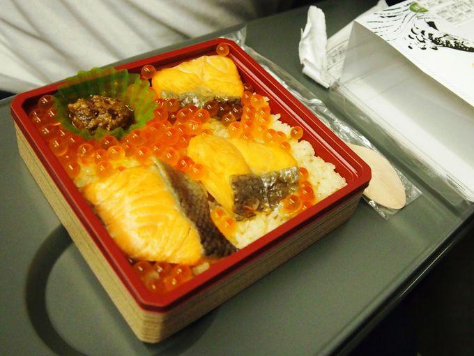 帰りの新幹線でも仙台名物を♪「鮭はらこめし」