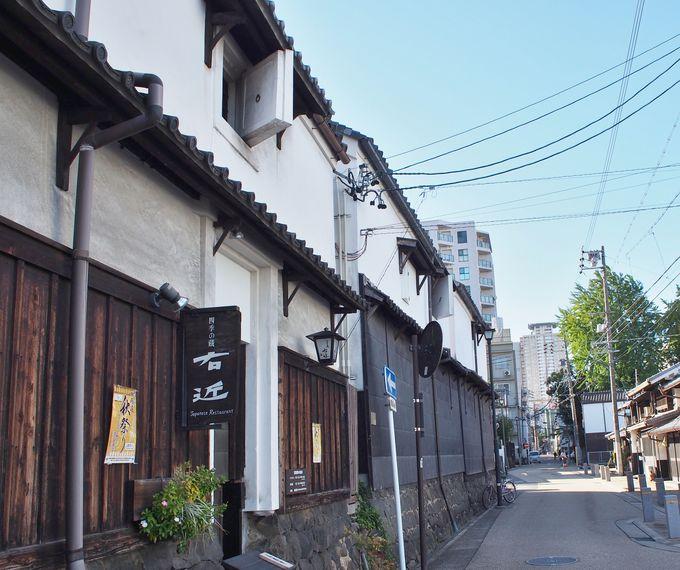 江戸時代の商人町「四間道」。モーニングのついでに観光もできる魅力的立地!