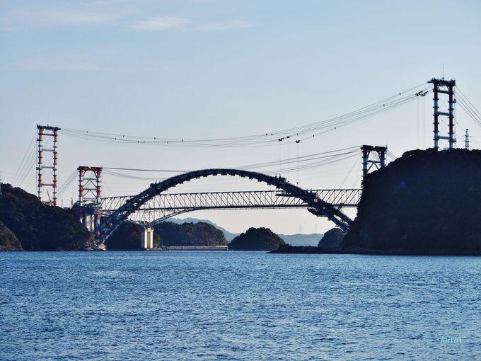 世界遺産三角西港からの眺めも美しい!