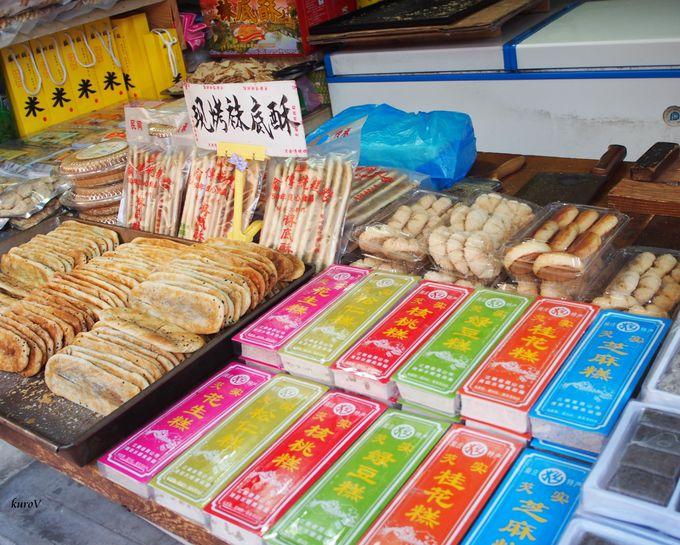 食べ物もお土産もそろう「周荘」古鎮景区