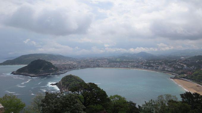 サン・セバスチャンの街並みとコンチャ湾を一望!