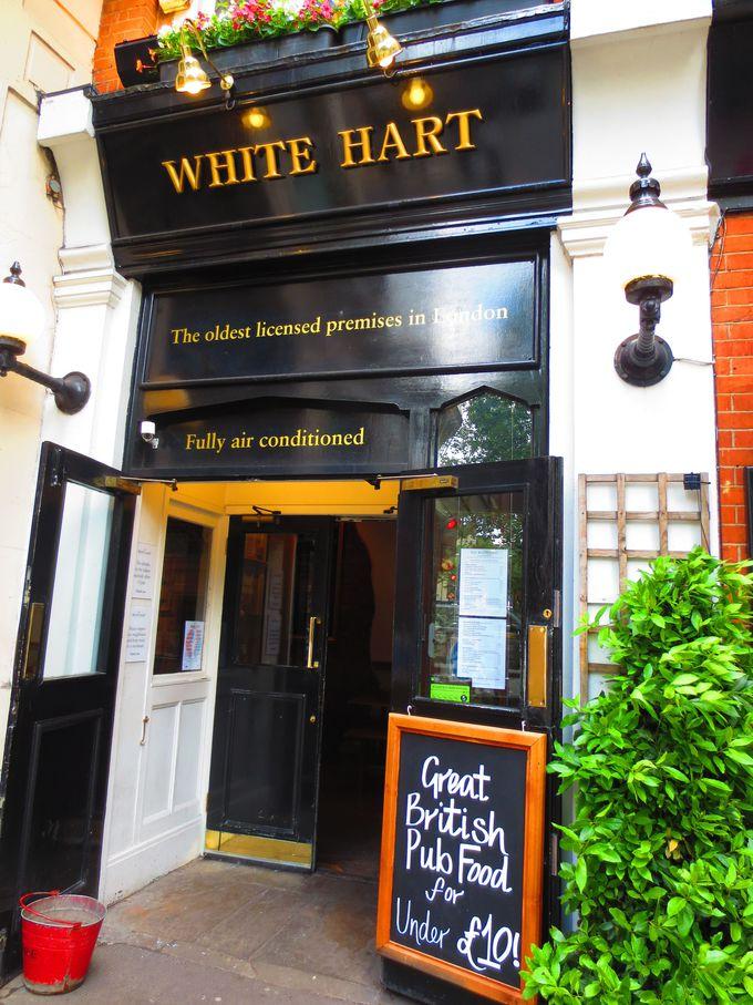 ロンドンで初めて営業許可を得たパブ「ホワイト・ハート」