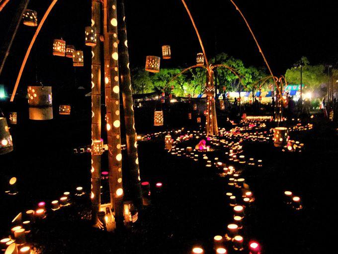 竹灯篭人気スポットその3:八町大路周辺