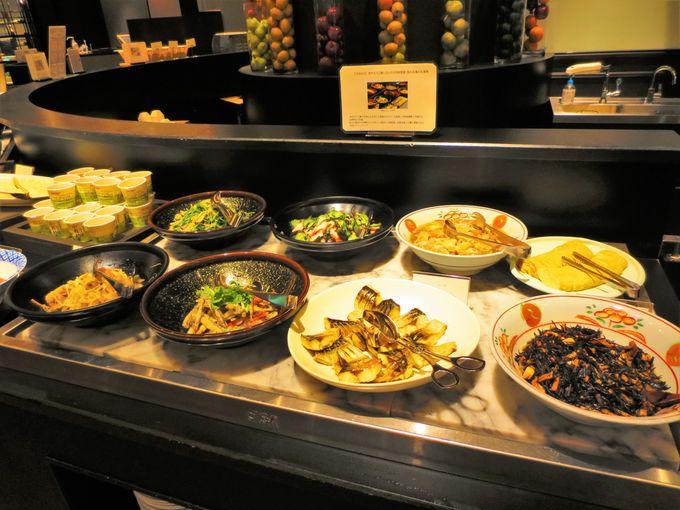 野菜に和惣菜、県産素材がたっぷりの朝食