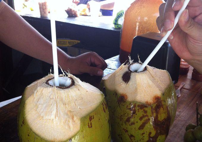 ココナッツを飲んでみよう!