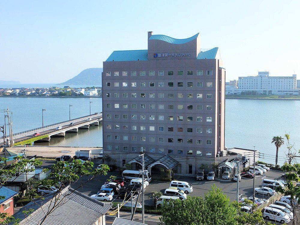 雄大な松浦川の河畔にたたずむ「唐津第一ホテルリベール」