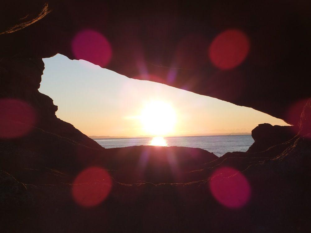 馬の背洞門以外にも日の出スポット多数あり!