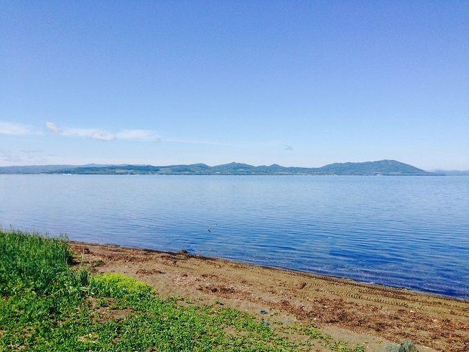 朝のサロマ湖を散策