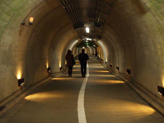 ひんや〜りなトンネルの中をどんどん進む!!