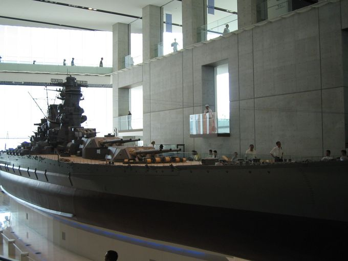 当時のリアルな姿に圧巻!!戦艦「大和」の模型の展示