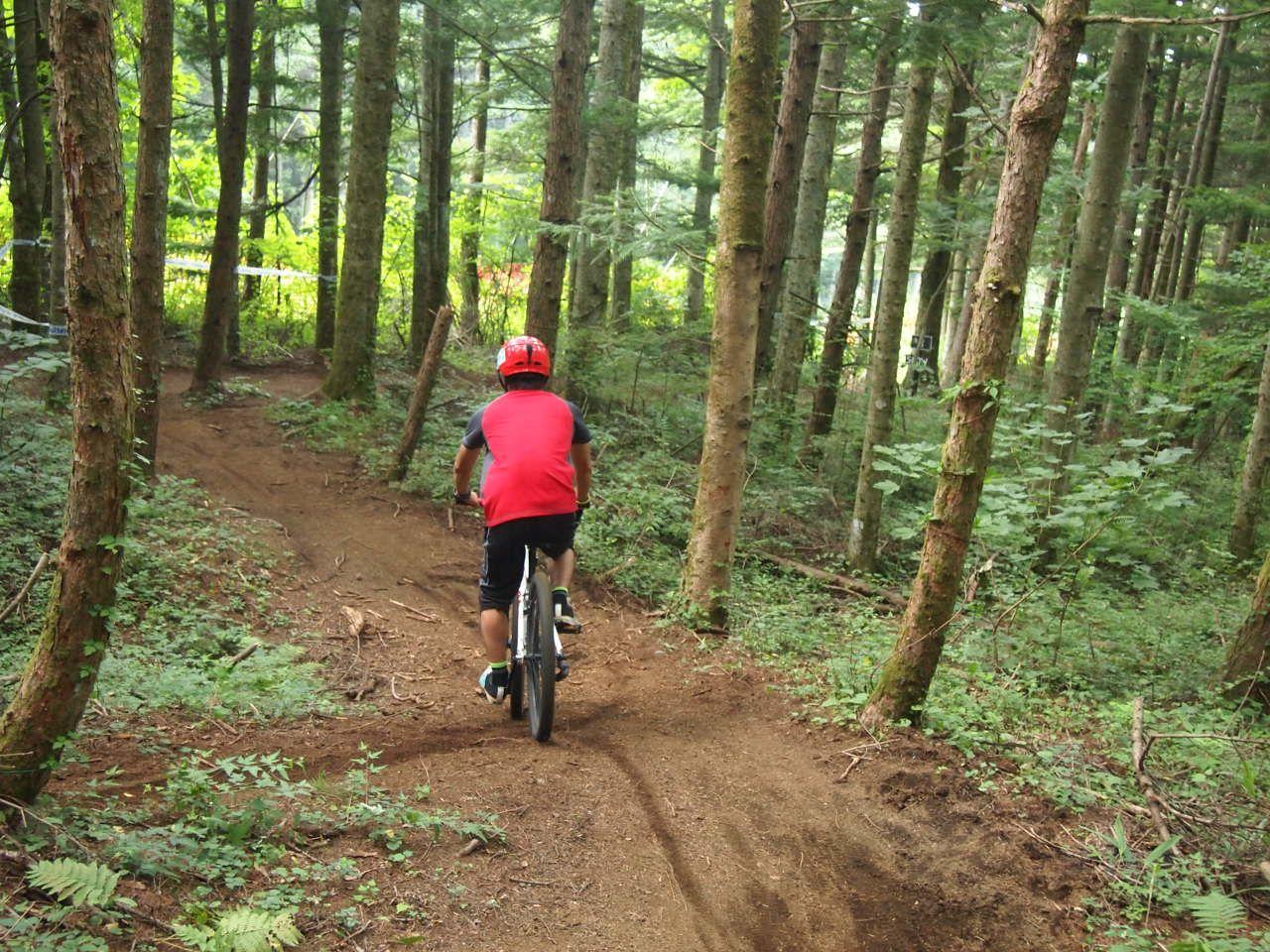 11月3日まで!!自然いっぱいのスキー場でマウンテンバイク専用コースを体験!!〜山梨県「ふじてん」