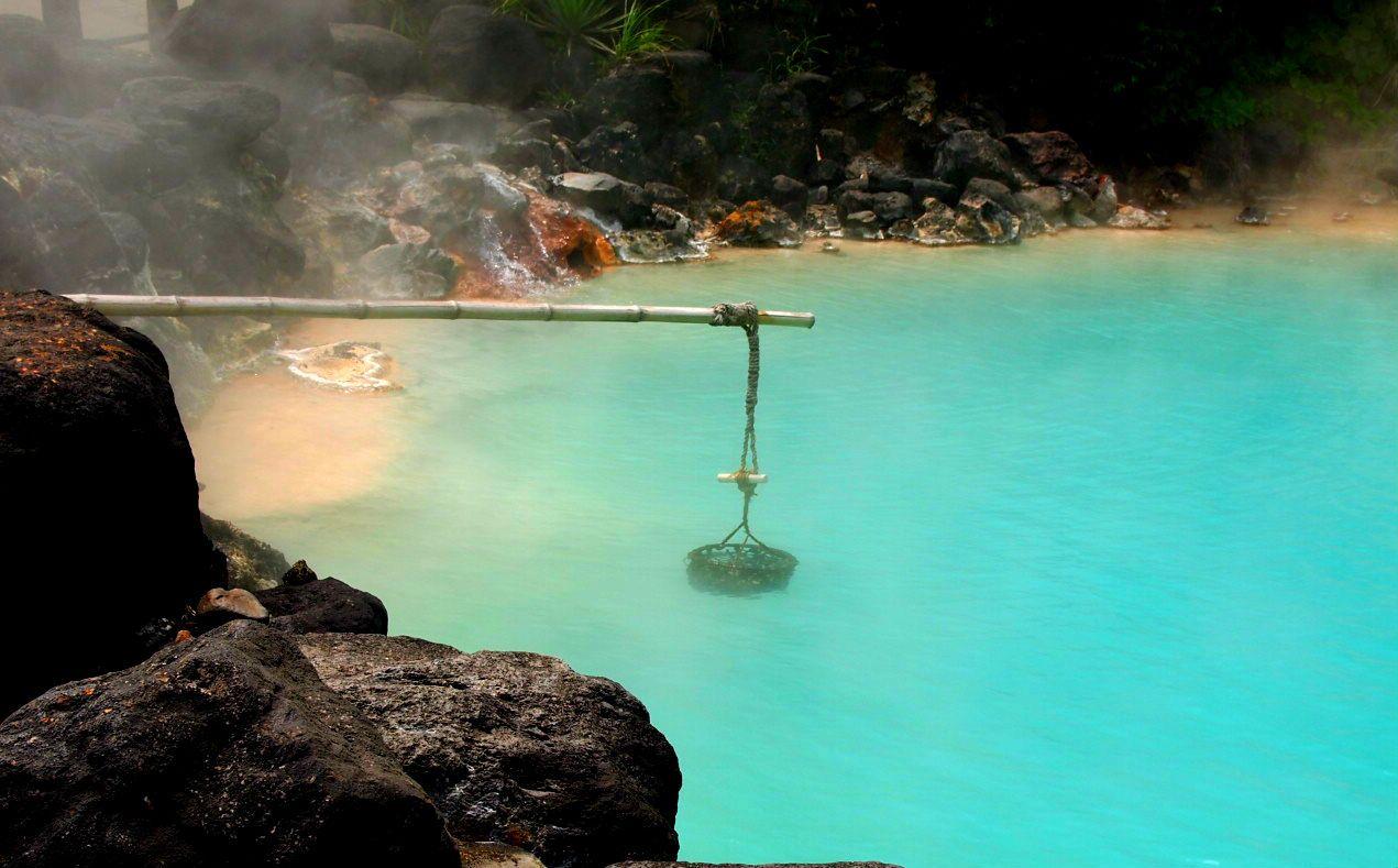コバルトブルーが美しい「海地獄」!!