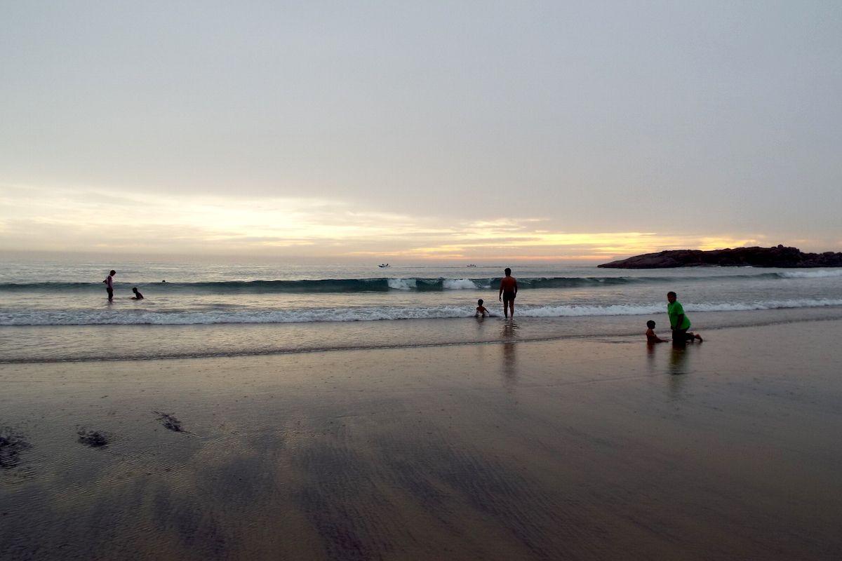 アラビア海に沈む夕日が美しい