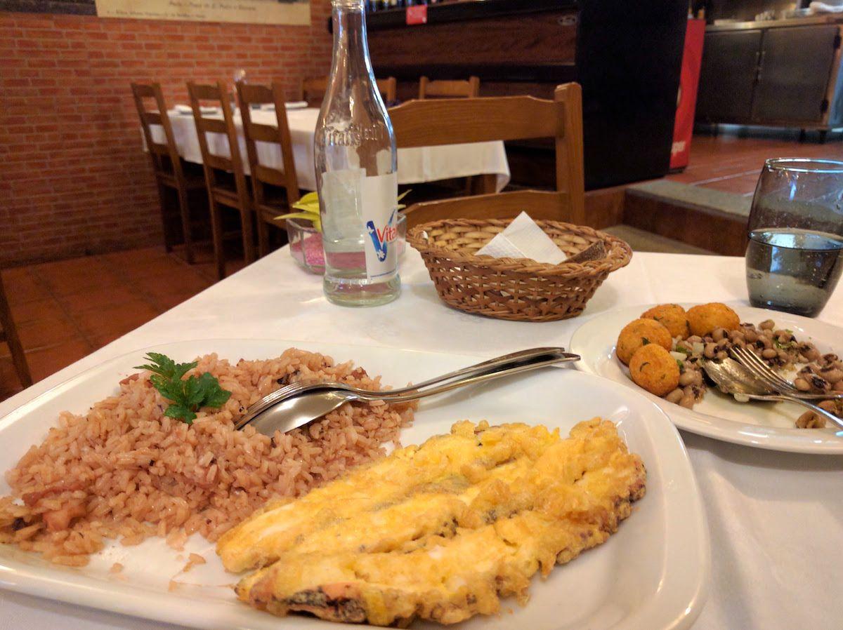 2、タコご飯とタコの天ぷら