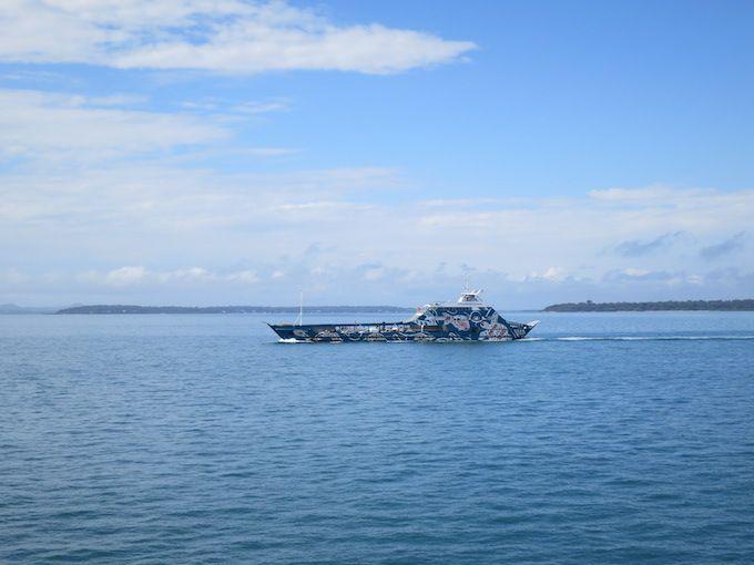 クリーブランドからモートン湾を渡って「ノース ストラドブローク島」へ
