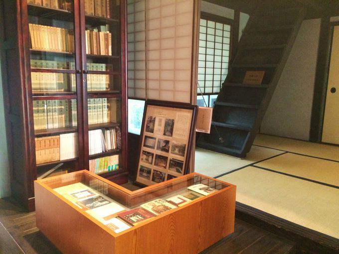 「森鴎外旧居」の内部は小さな森鴎外文学館