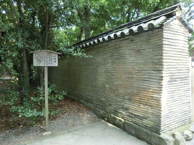 日本三大土塀の一つ「信長塀」