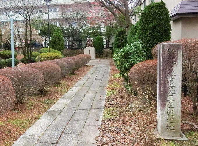 8.新渡戸稲造の石碑と像