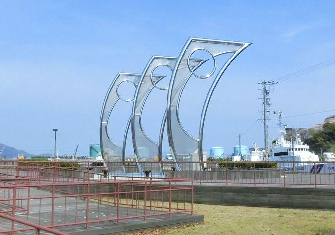 敦賀港開港100周年記念モニュメント