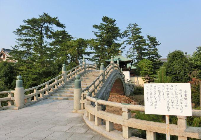 1978年(昭和53年)に建立の済世橋と正覚門
