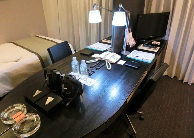 充実した客室内の設備で、上質の休息を